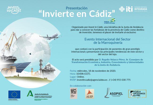 Congreso Internacional de Marroquinería organizado por Invest in Cádiz